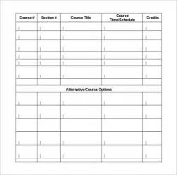 Student Schedule Template by Class Schedule Template 9 Free Documents In