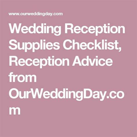 Wedding reception supplies checklist loading junglespirit Images