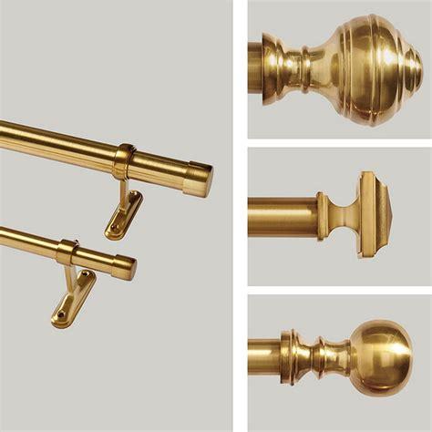 brass drapery hardware single rod drapery hardware brass ballard designs