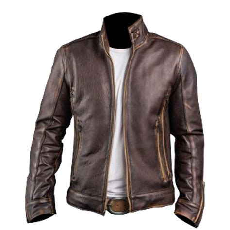 Motorrad Lederjacke Cafe Racer by Men S Biker Cafe Racer Vintage Motorcycle Distressed Brown