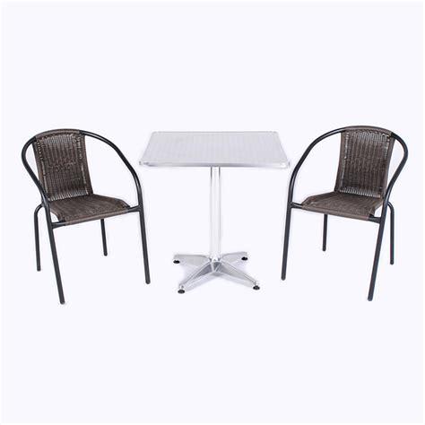 Kensington Bistro Chair Greenfingers Kensington Aluminium 2 X Armchairs 70cm Square Bistro Set