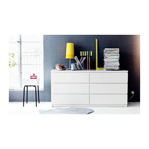 ikea malm kommode 6 schubladen weiß malm chest of 6 drawers white 160x78 cm ikea