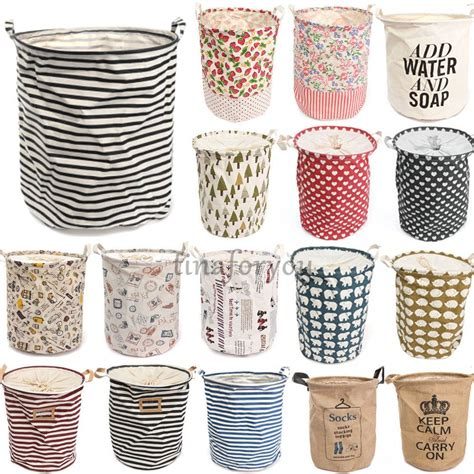 Foldable Cotton Linen Washing Clothes Laundry Basket Cool Cool Laundry