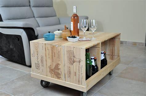 Grande caisse à vin en bois pour fabriquer ses meubles DIY