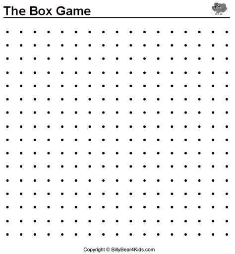 dot to dot box game printable printable connect dots game pictures to pin on pinterest