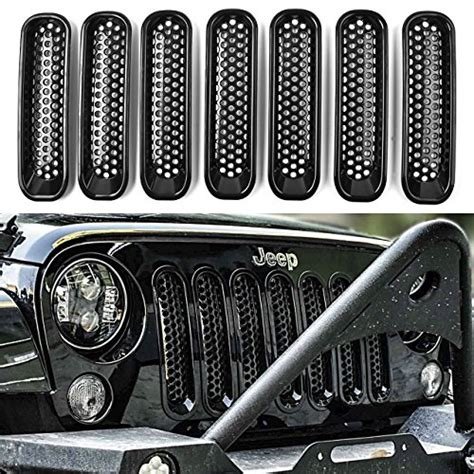 jeep front grill guard dedc jeep grille jeep wrangler mesh grill insert jeep