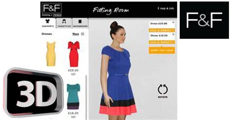 The Technology To Hit The Fitting Rooms Interactive Mirrors by Tesco Unveils 3d Fitting Room Future Thinking