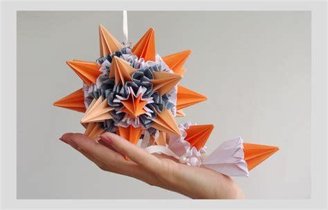 christmas decor hanging paper mobile quot sun rays quot orange
