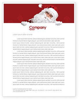 santa around the corner letterhead template layout for