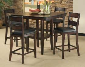 High Dining Room Table Set 5 Counter Height Dining Room Set Table Chair Dinette Furniture Rustic New Ebay