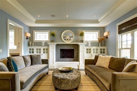 built ins for living room fireplace built ins living room craftsman with built in cabinets blue wall