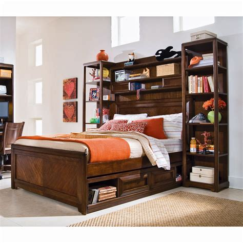 bookcase storage bed bookcase headboard