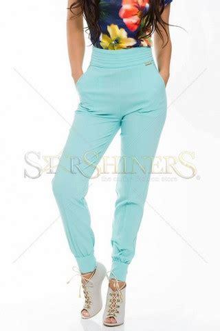 Arista Talia Mint pantaloni eleganti de dama pentru tinute office belladiva