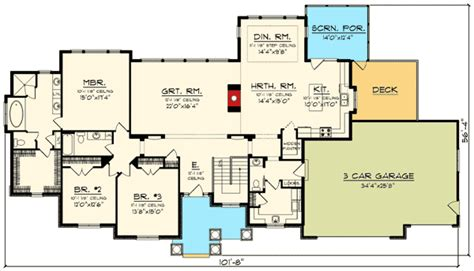 sprawling house plans sprawling craftsman ranch house plan 89922ah 1st floor master suite butler walk in pantry
