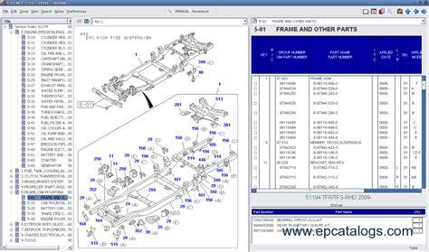 isuzu css net  spare parts catalog