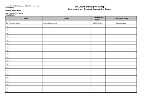 classroom sign in sheet template free microsoft word templates