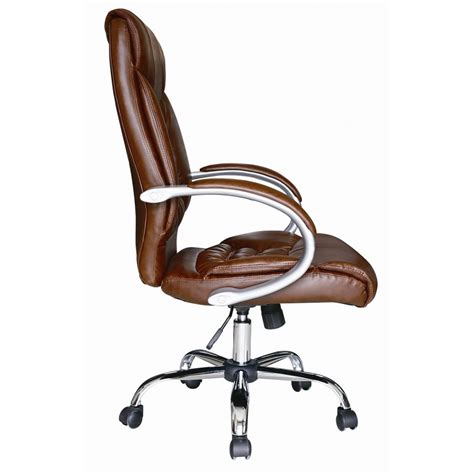leather swivel desk chair brown faux leather luxury high back swivel executive pc