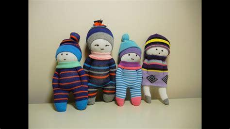 easy diy sock plush sock dolls diy stuffed toys easy and fast