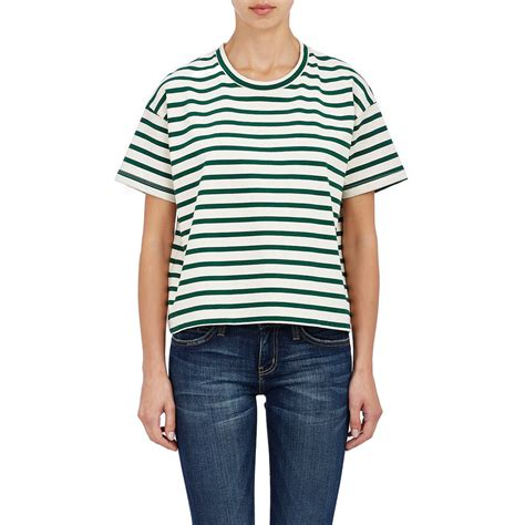 jersey knit t shirt lyst marni jersey knit t shirt in green