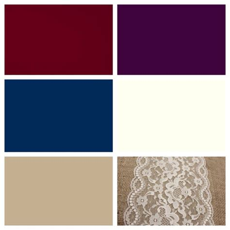 colors that go with plum wedding color scheme burgundy plum navy ivory and
