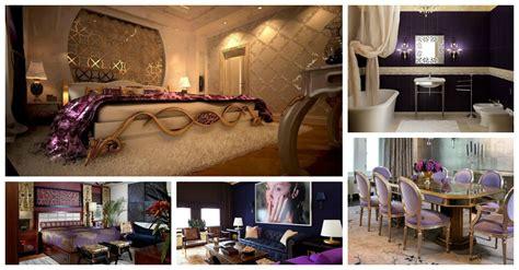 wonderful purple  gold interiors
