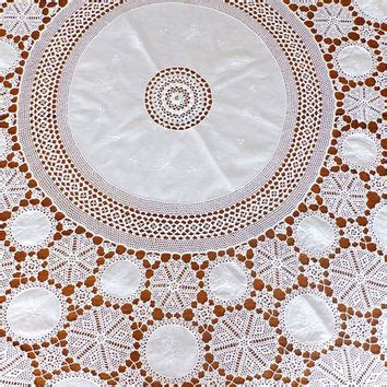 Shabby Table Cloth Pink Lace 2 best crochet lace tablecloth products on wanelo