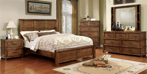 panel bedroom sets baddock antique oak panel bedroom set cm7691q furniture