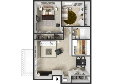 2 bed 2 bath apartments 2 bedroom 1 bath apartment floor plans
