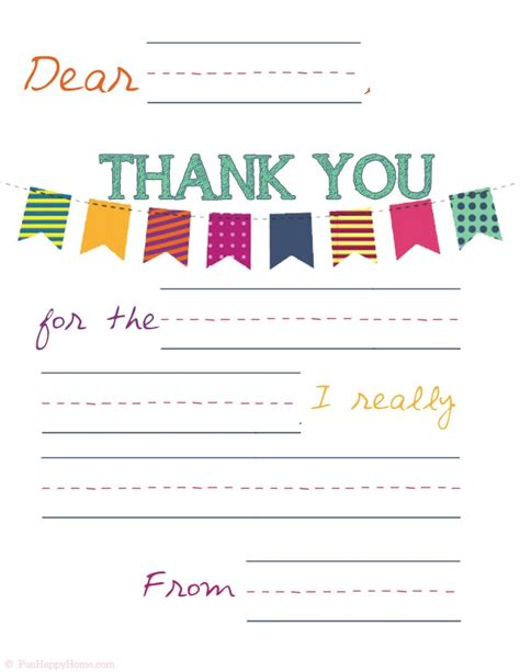 thank you card for from student template printable thank you notes that will make your feel