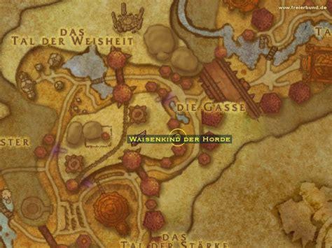 schlacht um orgrimmar eingang waisenkind der horde map guide freier bund