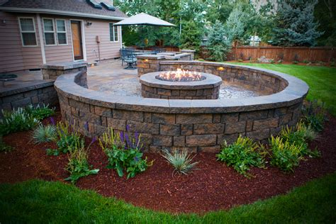 pits and outdoor fireplaces newport ave landscaping