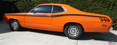 Daster Hello Orange 1973 plymouth duster h code 340 numbers matching grnd up resto