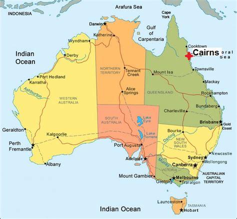australia map of cairns australian abattoirs