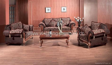Leather And Fabric Living Room Sets | antique royal solid wood furniture leather fabric sofa set