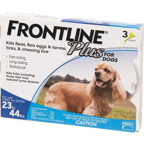 frontline plus for dogs blue for dogs 23 to 44 lbs