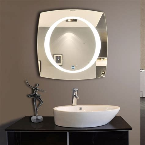 40 x 40 in horizontal and vertical led bathroom silvered