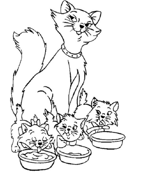 Cat Family Coloring Page   winged cats coloring pages family coloring pages