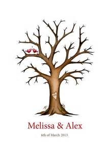 Wedding Tree Template by Wedding Tree Fingerprint Memory Tree