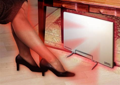 under desk radiant heater cozy products cozy legs radiant panel