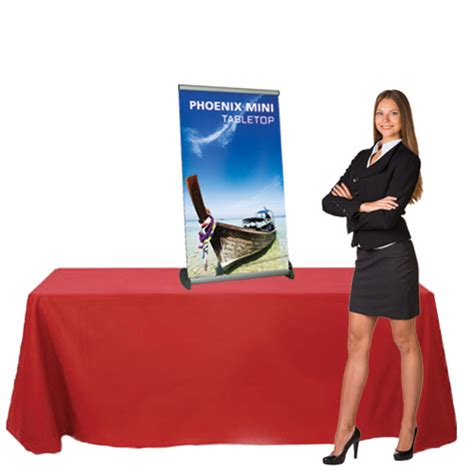 marketing table top displays retractable table top banner stand phoenix mini