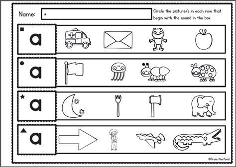 sound discrimination worksheets visual and letter sound discrimination 52 worksheets preschool phonics letter