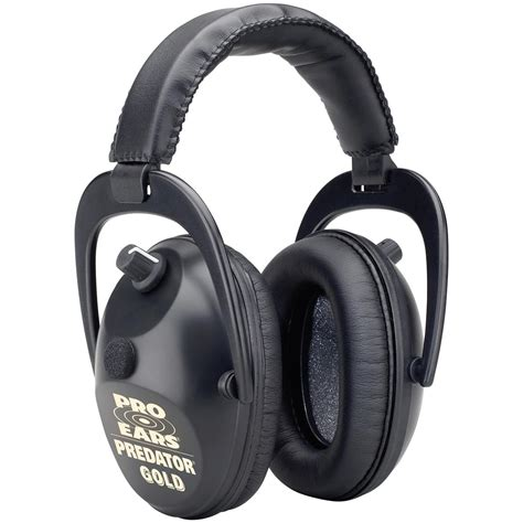 ear protection pro ears 174 predator gold hearing protection and lification ear muffs 175891