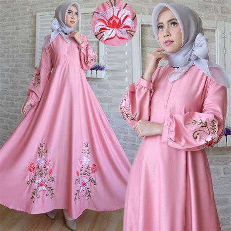 Gamis Maxi Baloteli C039 Pink   Baju Muslim Modern   Bajugamisku.com