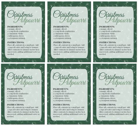 printable christmas potpourri tags diy christmas potpourri great gift idea too with
