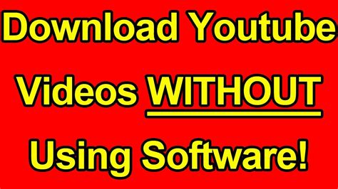 Download Youtube Without Software | quelques liens utiles
