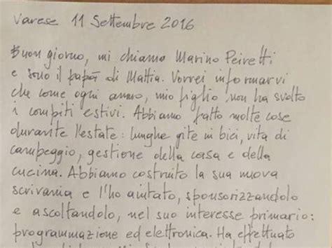 lettere per i figli lettera di un pap 224 171 mio figlio non ha fatto i compiti ha