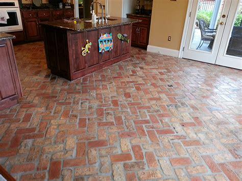 Interior Brick Pavers Flooring by Chicago Acadian Brick Lafayette La