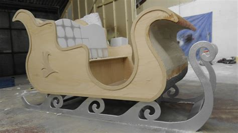the brief was to create a life size sleigh for santa to