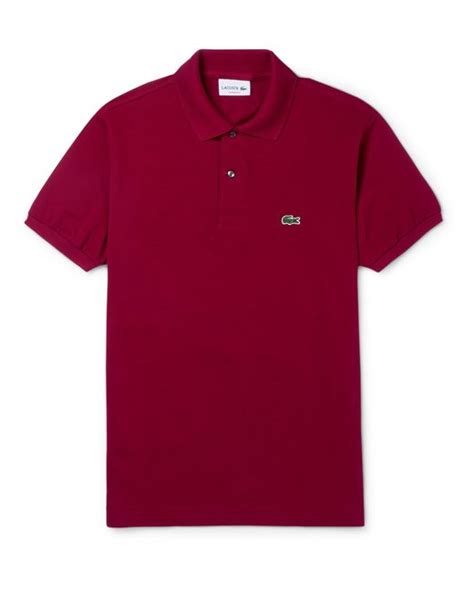 Polo Shirt Lacost Maroon Mix Black lacoste cotton piqu 233 polo shirt in black for lyst