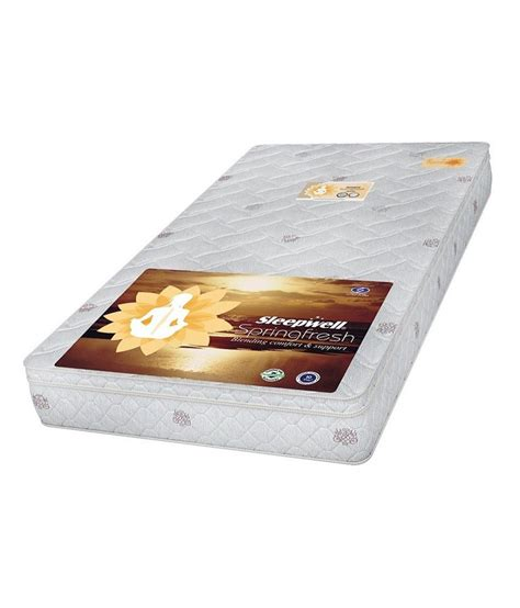 Sleepwell Foam Mattress Price by Sleepwell Amity White Mattress Buy Sleepwell Amity White